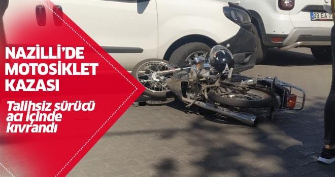 Nazilli'de motosiklet kazası