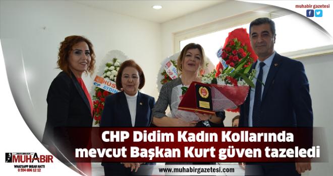 CHP Didim Kadın Kollarında mevcut Başkan Kurt güven tazeledi