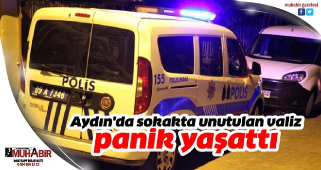 Aydın'da sokakta unutulan valiz panik yaşattı