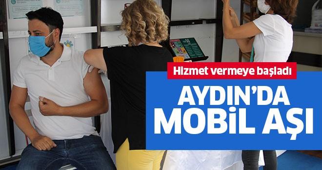 Aydın'da mobil aşı