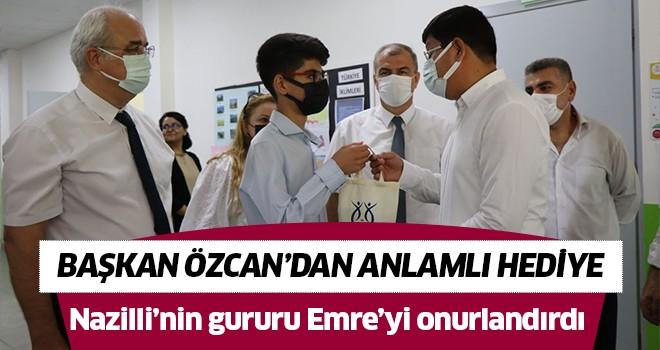 Başkan Özcan, Nazilli'nin gururu Emre'yi onurlandırdı