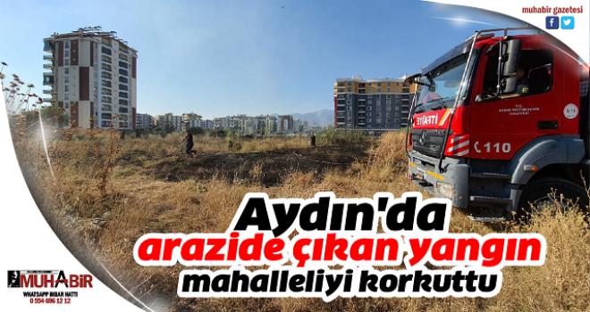 Aydın'da arazide çıkan yangın mahalleliyi korkuttu