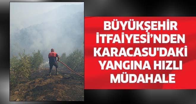 Büyükşehir Belediyesi'nden Karacasu'daki yangına hızlı müdahale