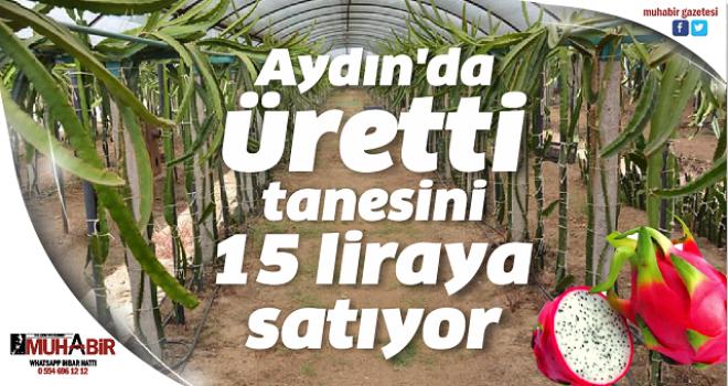 Aydın'da üretti, tanesini 15 liraya satıyor