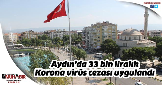 Aydın'da 33 bin liralık Korona virüs cezası uygulandı