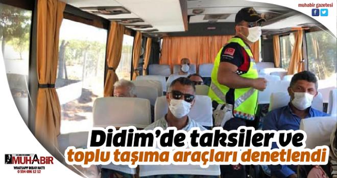 Didim'de taksiler ve toplu taşıma araçları denetlendi