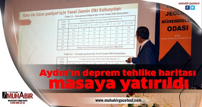 Aydın'ın deprem tehlike haritası masaya yatırıldı