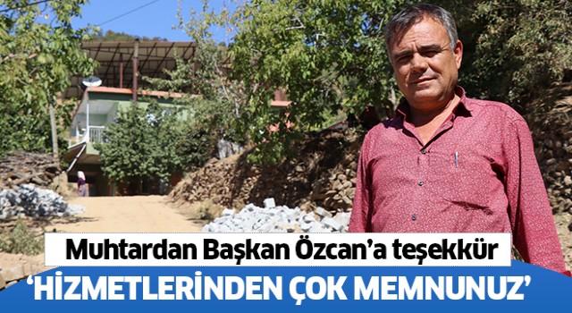 Muhtardan Başkan Özcan'a teşekkür