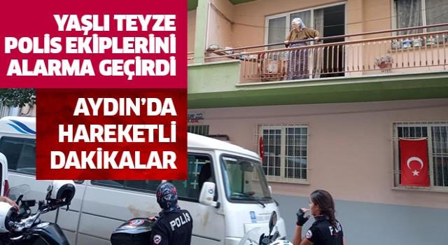 Polis ekipleri yaşlı teyze için seferber oldu