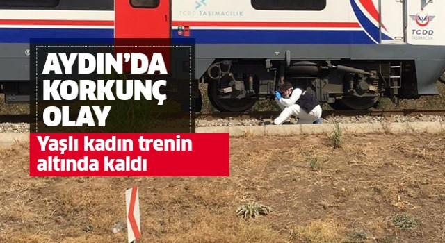 Yaşlı kadın trenin altında kaldı