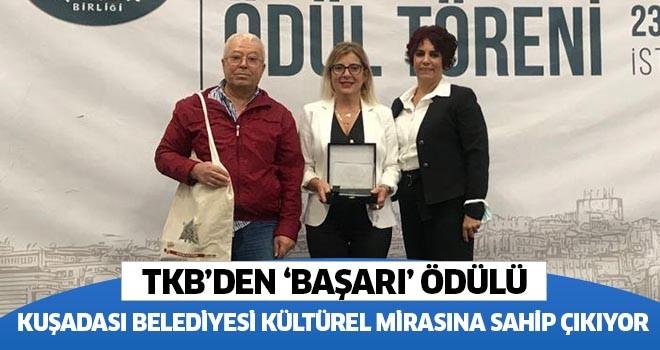 TKB'den Kuşadası Belediyesine başarı ödülü