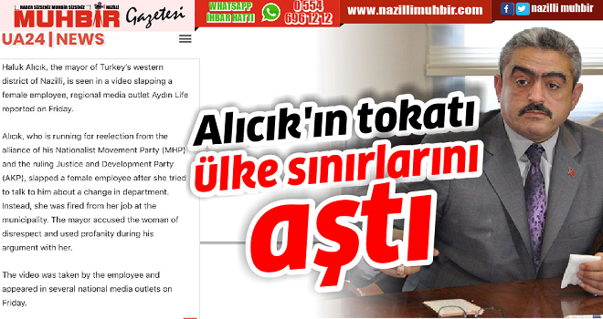 Alıcık'ın tokatı ülke sınırlarını aştı