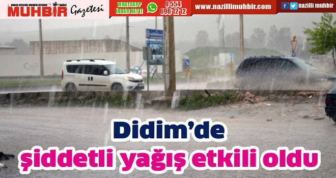 Didim'de şiddetli yağış etkili oldu