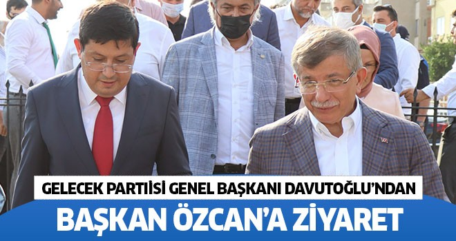 Gelecek Partisi Genel Başkanı Davutoğlu'ndan Başkan Özcan'a ziyaret