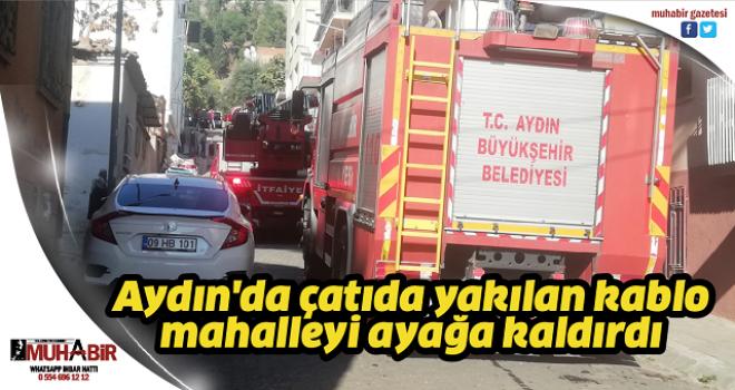 Aydın'da çatıda yakılan kablo mahalleyi ayağa kaldırdı