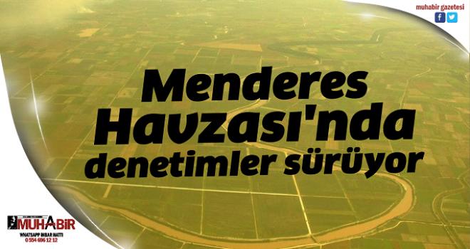 Menderes Havzası'nde denetimler sürüyor