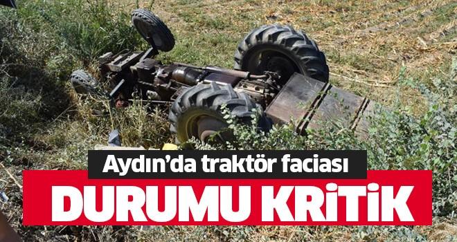 Aydın'da traktör kazası!