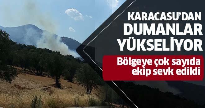 Karacasu'dan dumanlar yükseliyor