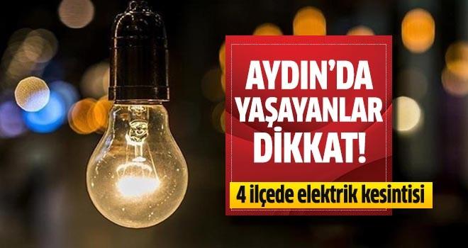4 ilçede elektrik kesintisi yapılacak