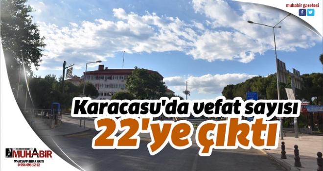 Karacasu'da vefat sayısı 22'ye çıktı