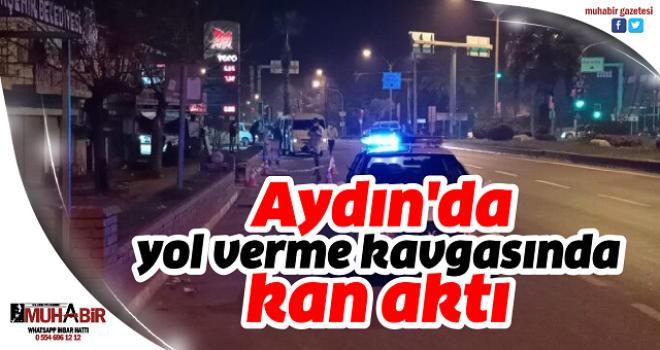 Aydın'da yol verme kavgasında kan aktı