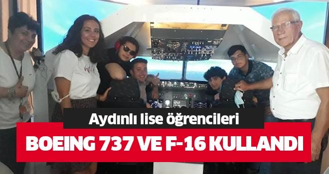 Lise öğrencileri Boeing 737 ve F-16 kullandı