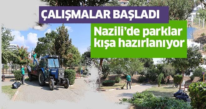 Nazilli'de parklar kışa hazırlanıyor