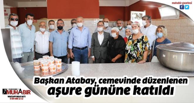Başkan Atabay, cemevinde düzenlenen aşure gününe katıldı