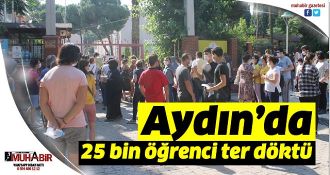 Aydın'da 25 bin öğrenci ter döktü