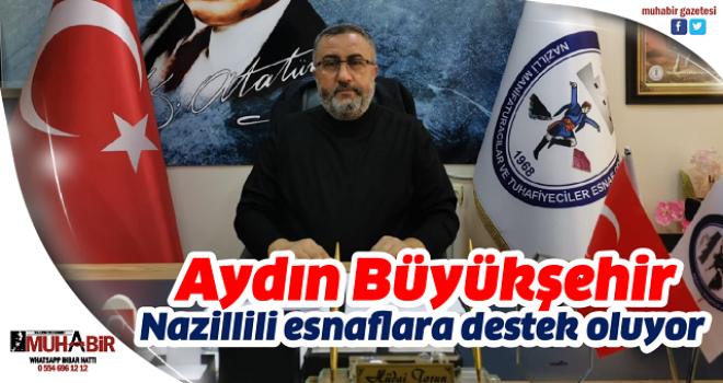 Aydın Büyükşehir, Nazillili esnaflara destek oluyor