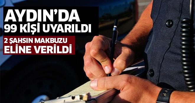 Aydın'da 2 kişiye ceza!