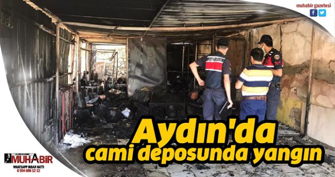 Aydın'da cami deposunda yangın