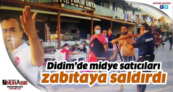 Didim'de midye satıcıları zabıtaya saldırdı