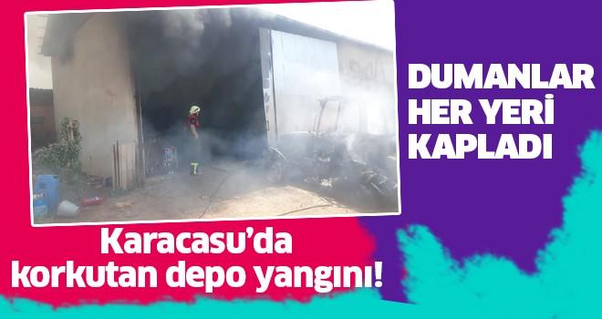 Karacasu'da depo yangını!