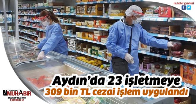 Aydın'da 23 işletmeye 309 bin TL cezai işlem uygulandı