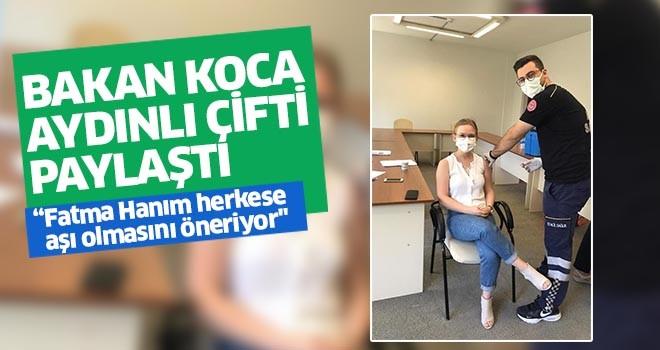 Aydın'da, acil tıp teknikeri, eşinin aşısını kendisi yaptı