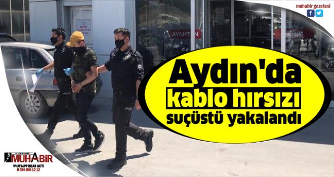 Aydın'da kablo hırsızı suçüstü yakalandı