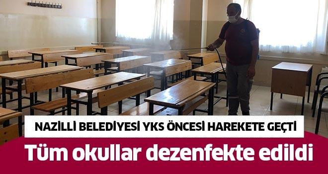 Nazilli'de tüm okullar dezenfekte edildi