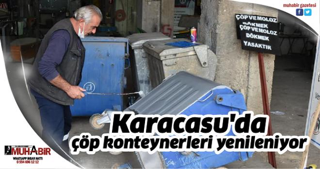 Karacasu'da çöp konteynerleri yenileniyor