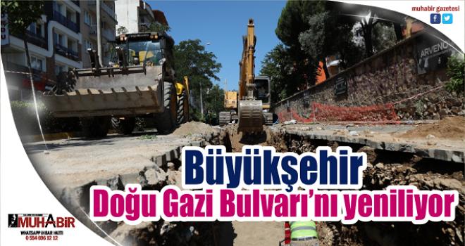 Büyükşehir, Doğu Gazi Bulvarı'nı yeniliyor