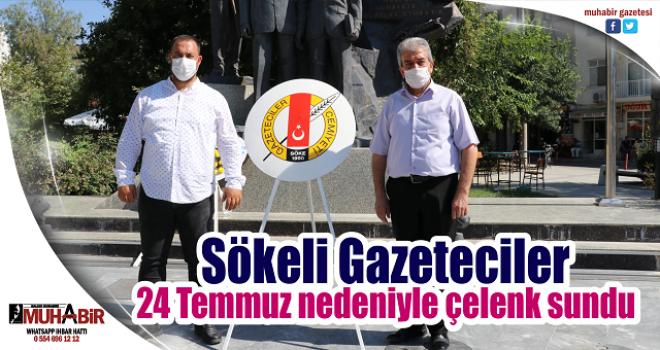 Sökeli Gazeteciler 24 Temmuz nedeniyle çelenk sundu