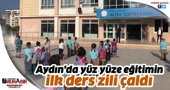 Aydın'da yüz yüze eğitimin ilk ders zili çaldı