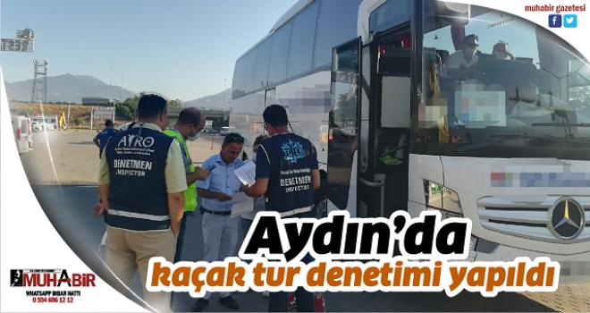 Aydın'da kaçak tur denetimi yapıldı
