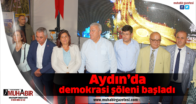 Aydın'da demokrasi şöleni başladı