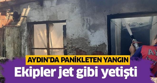 Aydın'da panikleten yangın