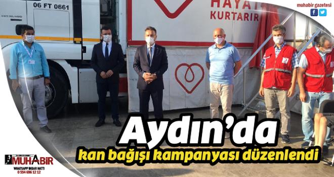 Aydın'da kan bağışı kampanyası düzenlendi