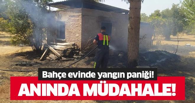 Bahçe evinde yangın!