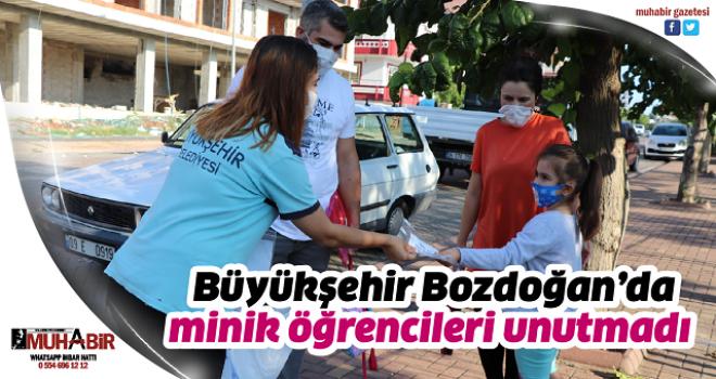 Büyükşehir Bozdoğan'da minik öğrencileri unutmadı