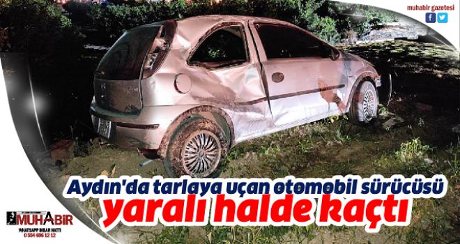 Aydın'da tarlaya uçan otomobil sürücüsü yaralı halde kaçtı