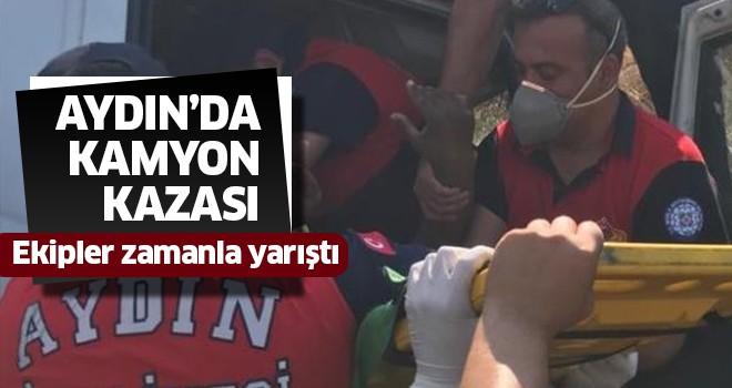 Aydın'da kamyon kazası